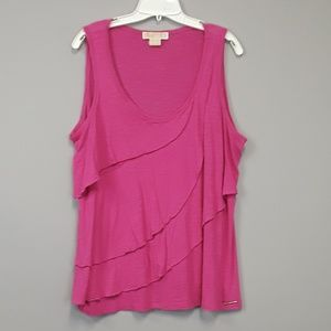 Michael Michael Kors pink plus size ruffled top